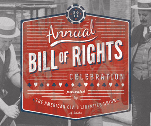 The ACLU of Idaho 20th Aniversary Invite Design